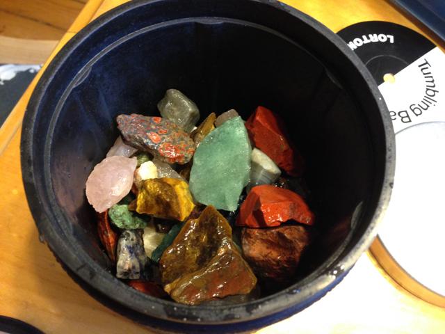 rocks in tumbler