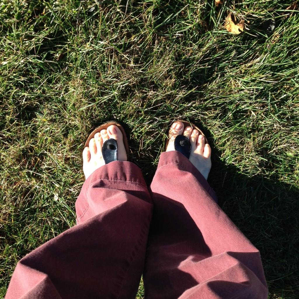 xmas in sandals