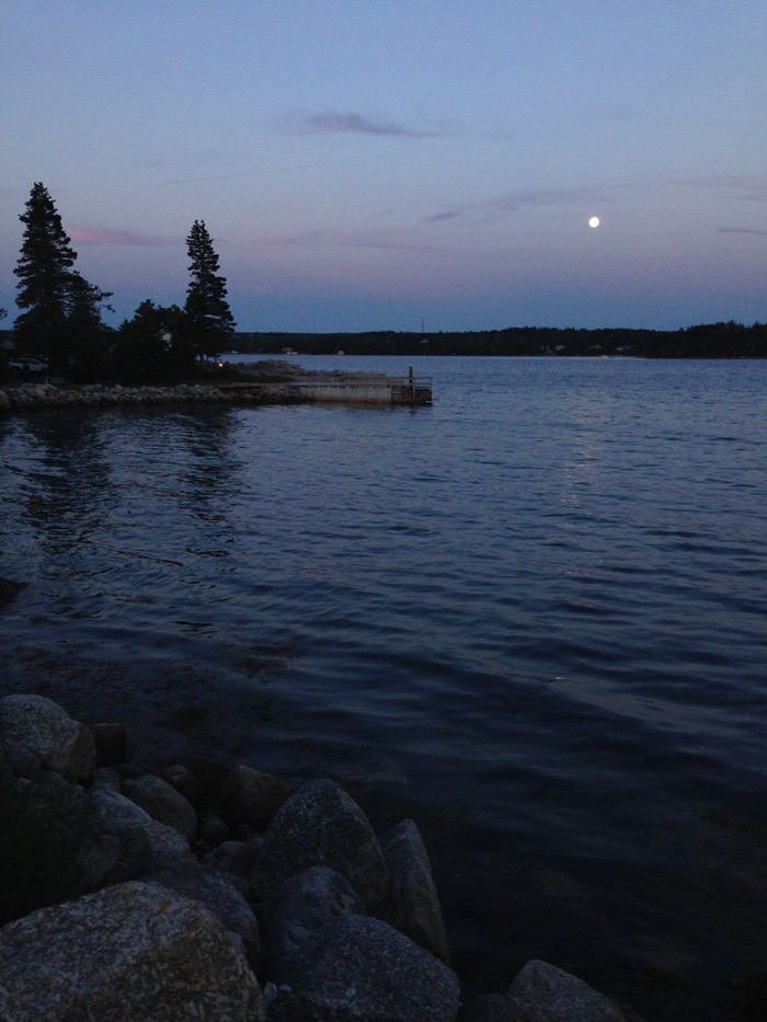 rising moon on water
