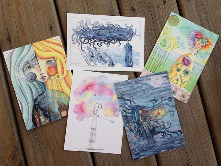 Art Postcards available at Moongirl Art Shop!