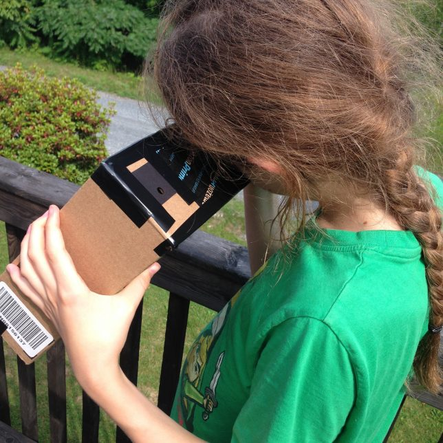 Small box eclipse viewing